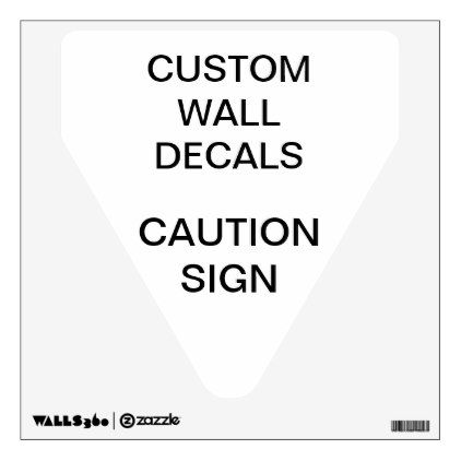 """#Custom Personalized 12""""x12"""" DANGER SIGN Wall Decal - #cyo #create #your #own #gifts"""