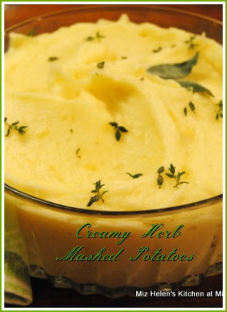 creamy herb mashed potatoes at miz helen s country cottage rh pinterest com