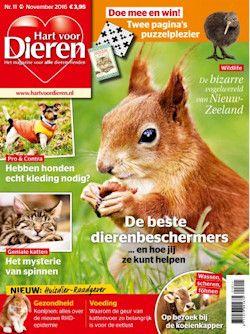 12x Hart voor Dieren € 25,-: Hart voor Dieren is het leukste, meest ontspannende en informatieve dierenmagazine van heel Nederland. Neem nu een abonnement met korting of een welkomstcadeau naar keuze.