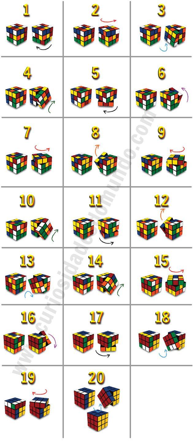 Como resolver o cubo mágico / cubo de rubik em apenas 20 passos
