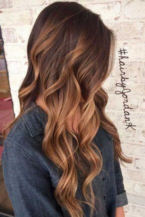 Caramel Ombre Hair Color for Brunettes 1