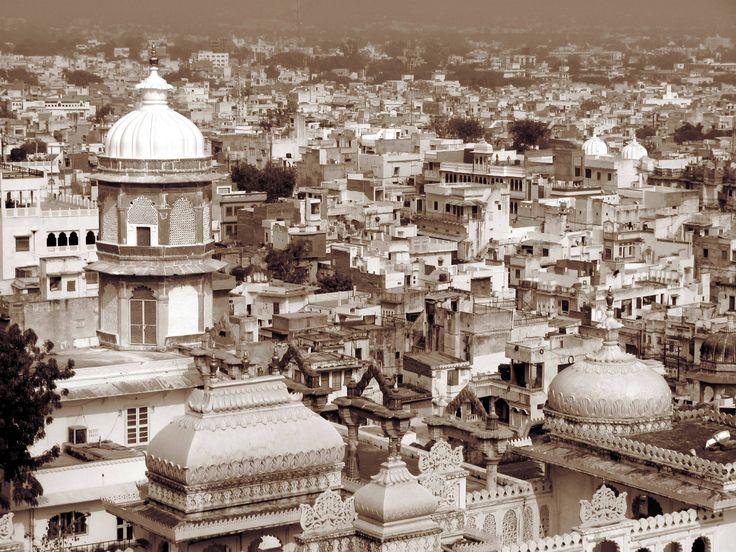 City life, India.