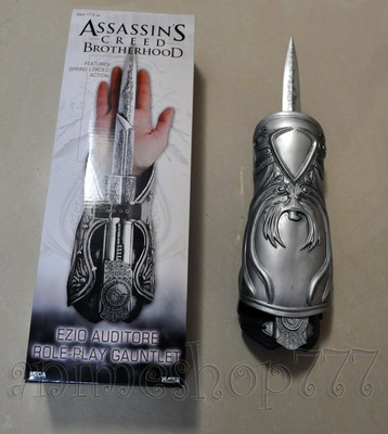 Assassin's Creed Cosplay Brotherhood Ezio Hidden Blade Gauntlet Vambrace Knife on eBay!