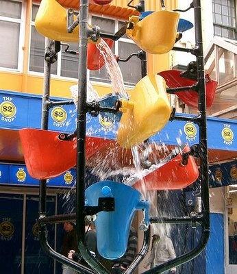 Bucket fountain, Cuba Street, Wellington