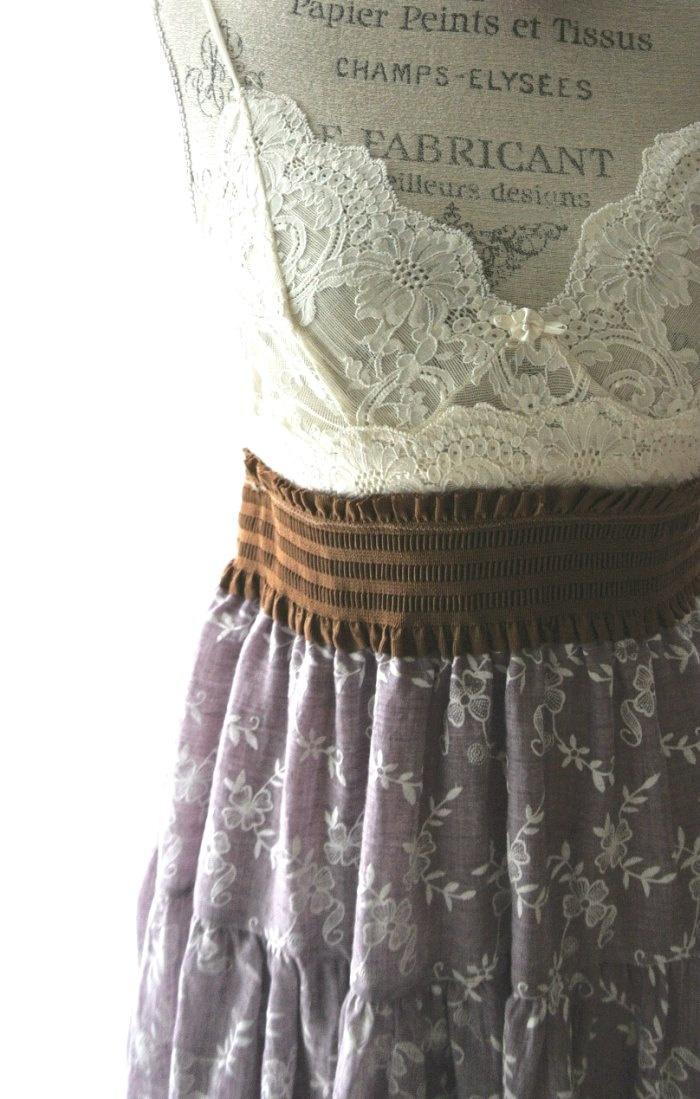Purple Boho Lace Poncho Top Romantic Bohemian Country