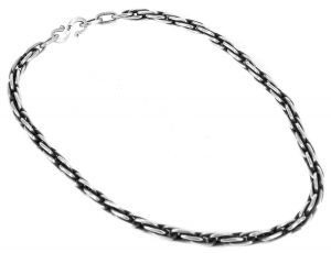 Interlink chain necklace in sterling silver - $990