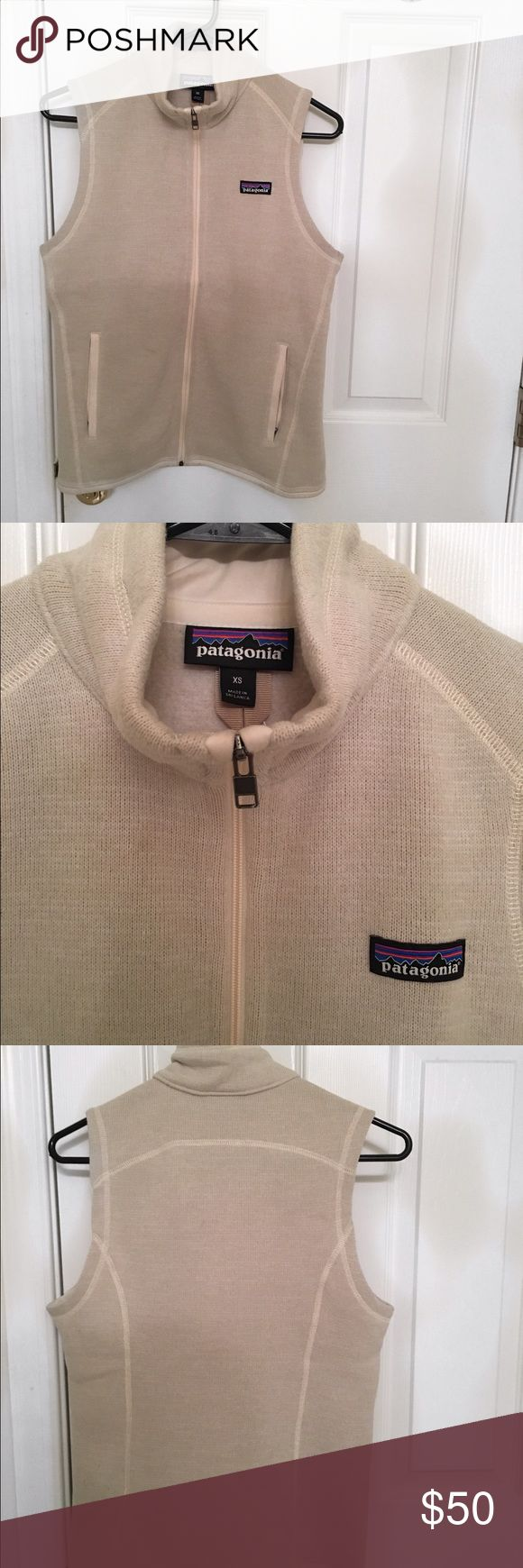 Patagonia Better Sweater Vest Patagonia Vest in color Raw Linen, lightly worn Patagonia Jackets & Coats Vests