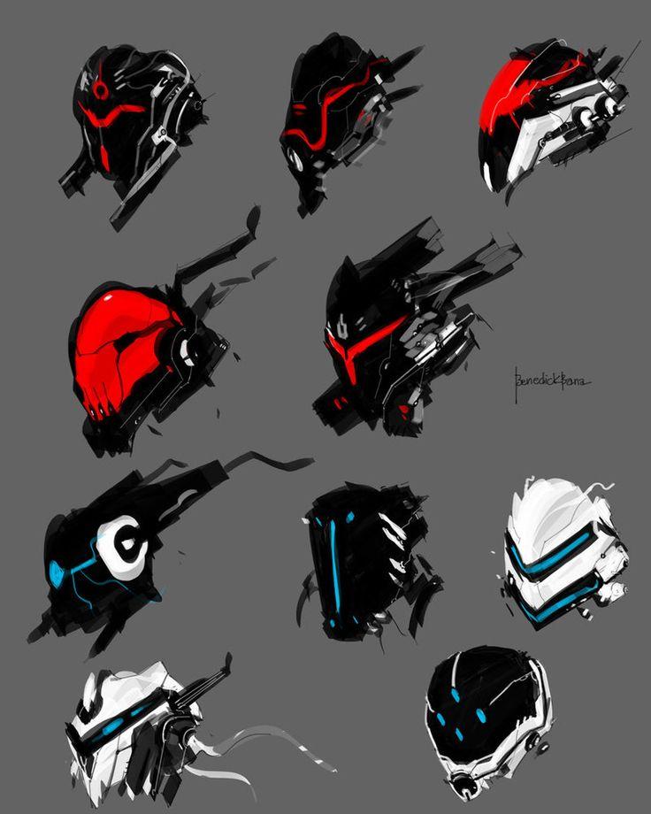Mech face full armor concept by - benedickbana