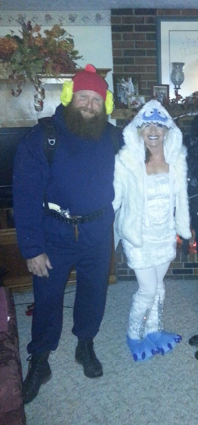 Yukon Cornelius and The Bumble. I handmade the majority of these costumes