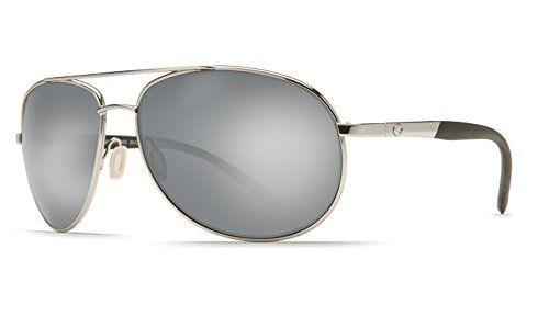 Costa Del Mar Wingman Polarized Sunglasses - Costa 580 Glass Lens Palladium/Silver Mirror, One Size
