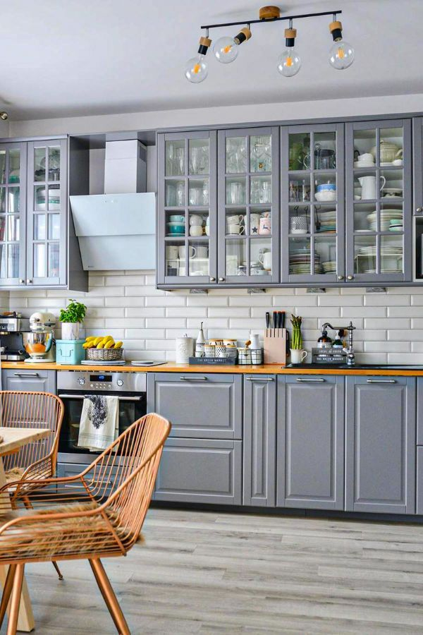 Lovely Grey Kitchen Cabinets Design Ideas For Cool Homes Page 28 Of 50 Evelyn S World My Dreams My Colors And My Life Budget Home Decorating Kitchen Cabinet Design Home Decor