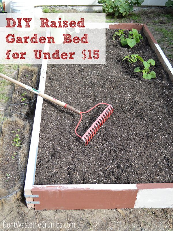 How To Build A Raised Garden Bed For Under 15 Gardens Garden Beds And Tutorials