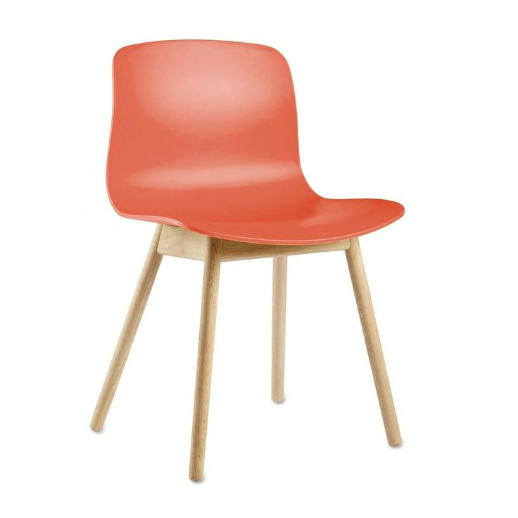 HAY - About a Chair 12 Stuhl Colour - korallenrot/Gestell Eiche geseift