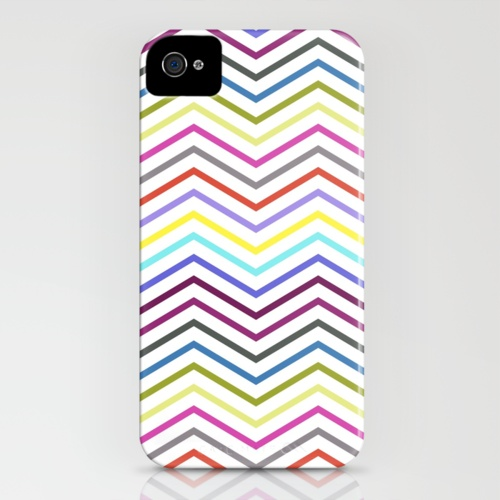 rainbow chevron iphone case