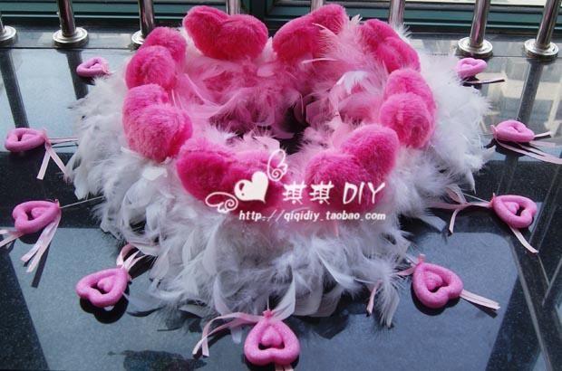 Auto matrimonio decorazione floreale rosa rossa combinazione peluche di dribbling Località ventosa-$19.83
