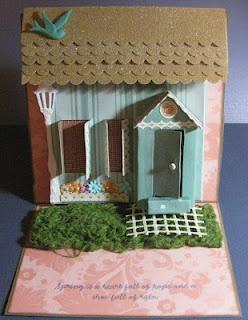 Cricut cartridge used: Heritage: Lamp Post House: Winter Woodland