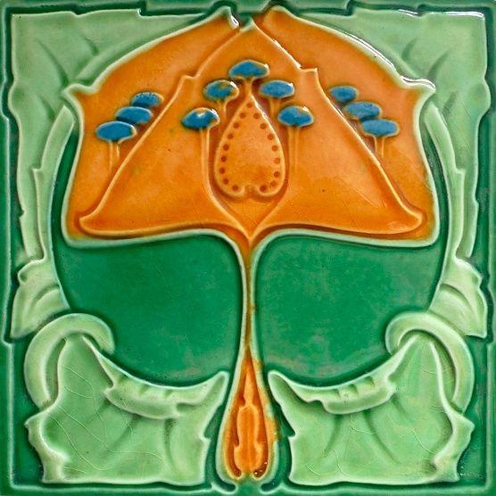 Johnson / Simpson ? multicoloured - Art Nouveau Tiles