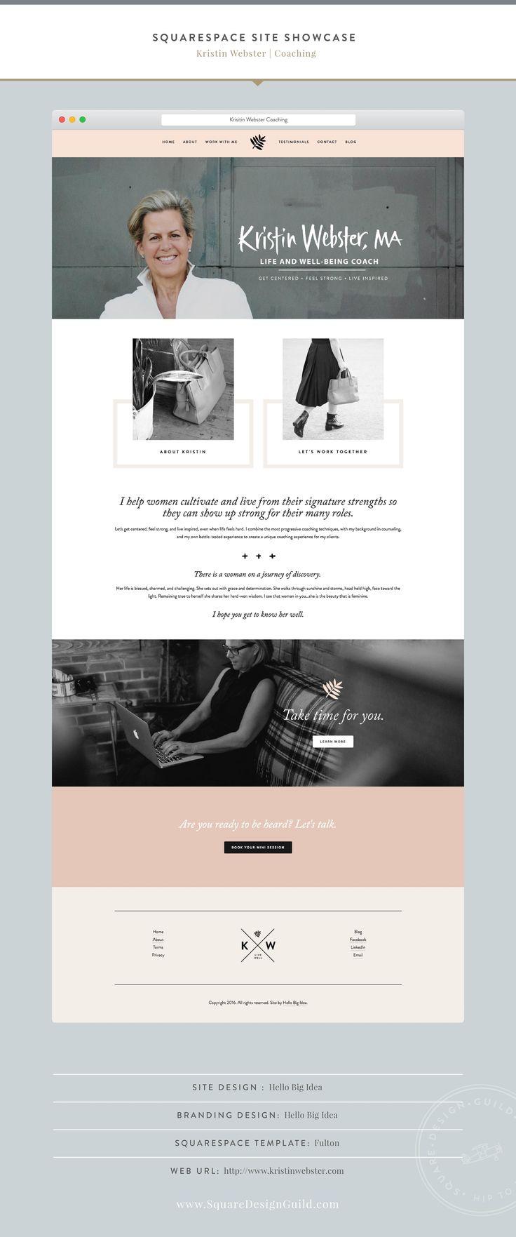 Squarespace Design Guild | Squarespace Site Showcase | Designed by Hello Big…