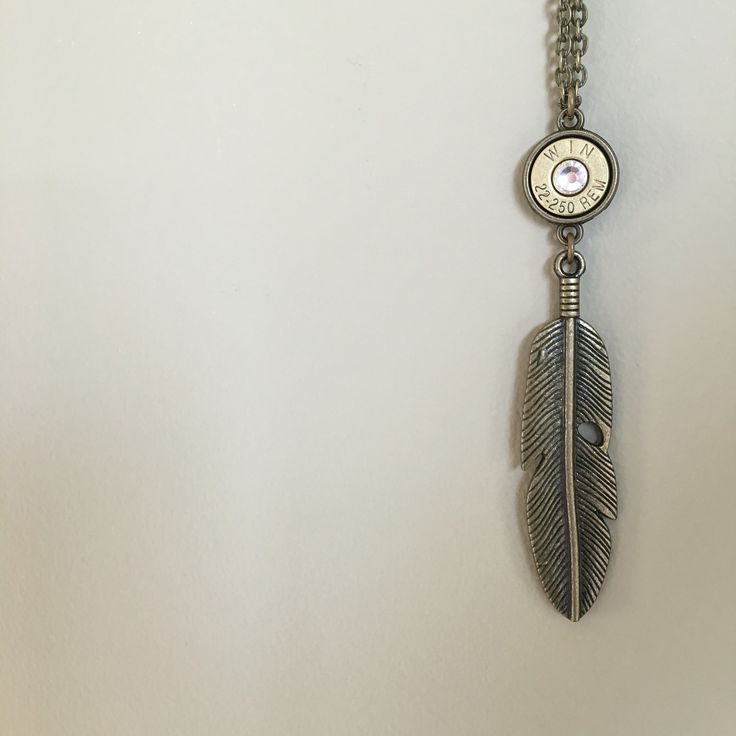 Bullet Feather Necklace