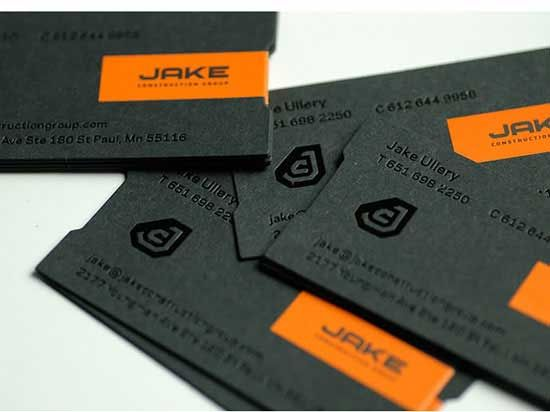 JAKE Construction business cards