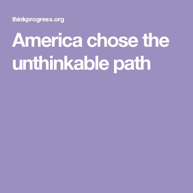 (The WORST ELEMENTS) of America Chose the Unthinkable Path.