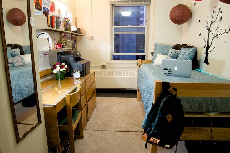 dorm room at columbia university