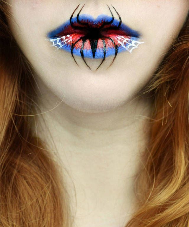 Take your halloween costume to the next level with this super creepy halloween lip art.