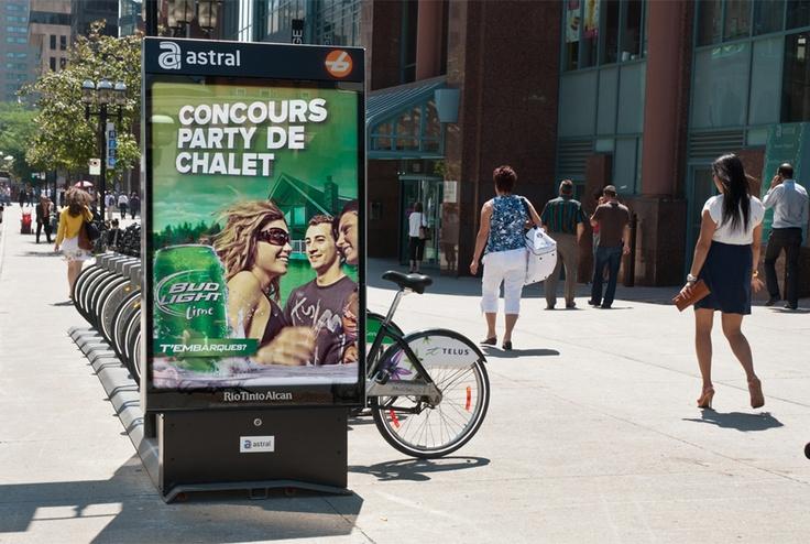 Bixi - Bud Light Lime  #StreetFurniture #Bike #Velo #Bixi #OutdoorAdvertising  #AffichageExterieur #AstralOutOfHome #AstralAffichage #Publicite #Ads #Billboard #PanneauAffichage #Montreal