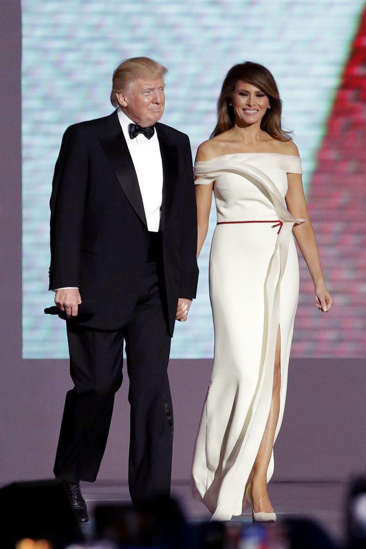 Donald and Melania Trump at the Inagural Ball - Cosmopolitan.com