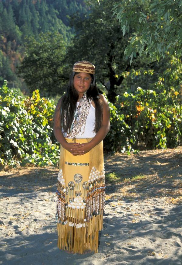 Yurok girl in Traditional dress Google Image