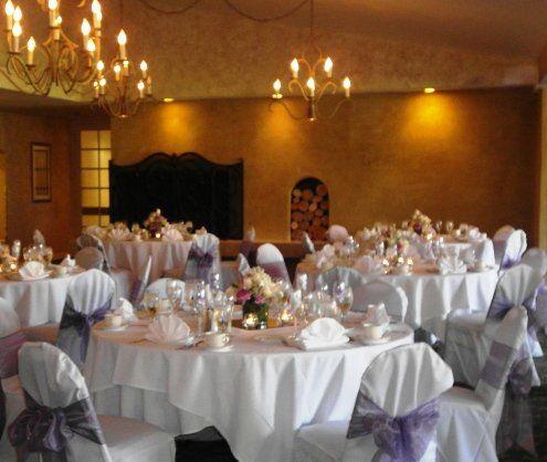 Inside El Camino Country Club With Purple Accents CCRwedding Countryclubreceptions Wedding Venue
