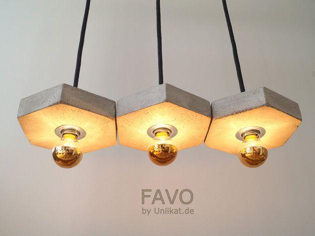 Deckenlampen betonh ngelampe favo fila3 ein for Kleiner konferenztisch