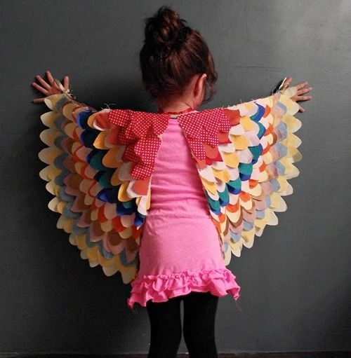 DIY child bird wings.