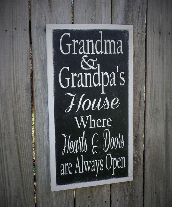 Grandparents Sign Mothers Day Gift Wood Sign Wooden Sign