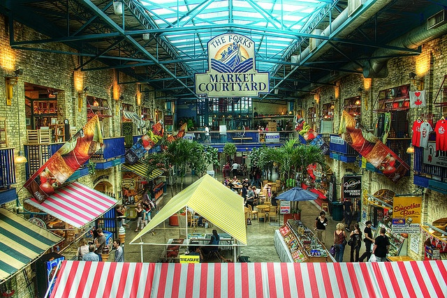 The Forks Market, Winnipeg.  When the Husband and I stay in Winnipeg we basically go here to eat twice a day.  That way I can get Vietnamese or Sri Lankan food and he can get a sub sandwich