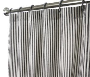 Grey Houndstooth Shower Curtain