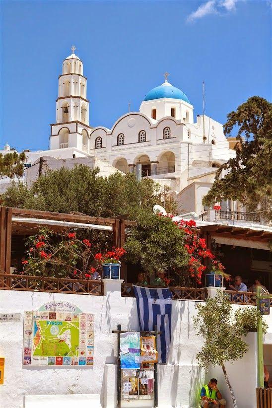 Pyrgos Village Square - Santorini, Greece