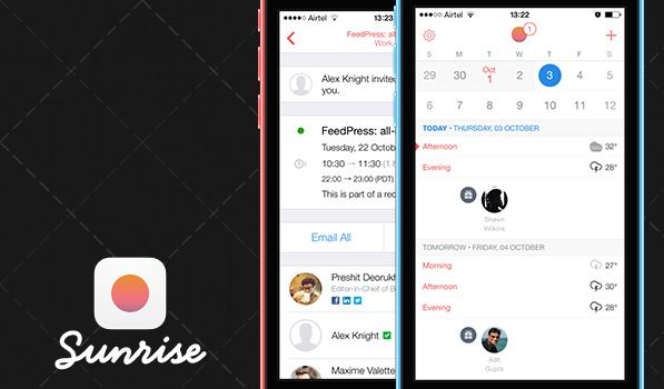 Sunrise Calendar Adds iCloud Support with iOS 7 Redesign