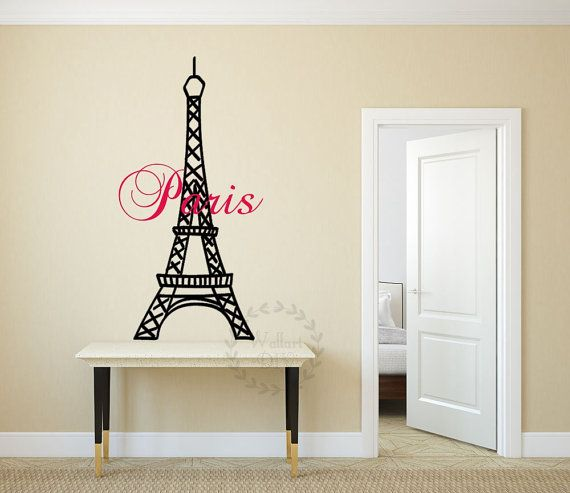 Paris Effiel tower wall decals Paris wall stickers City wall