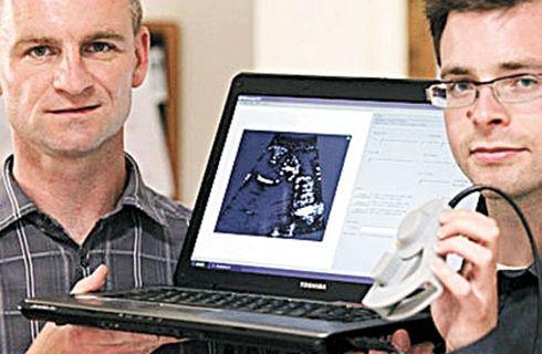 Ultrassom Portátil é compacto e mostra bebê direto no computador