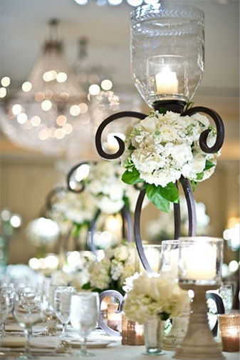 Morgan & Carson's Wedding! Photo: Adam Nyholt #wedding #candles #tablescape