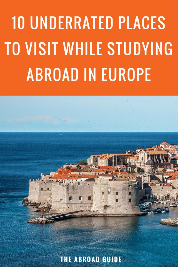 Visiting or studying abroad in Europe but want to skip the crowds and visit some unique destinations? Visit these 10 underrated places in Europe while studying abroad or traveling.