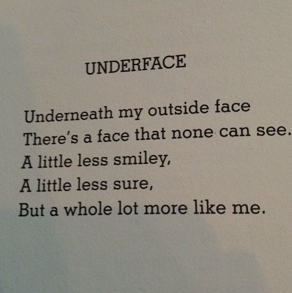 Underface - Shel Silverstein - my favorite poet hands down