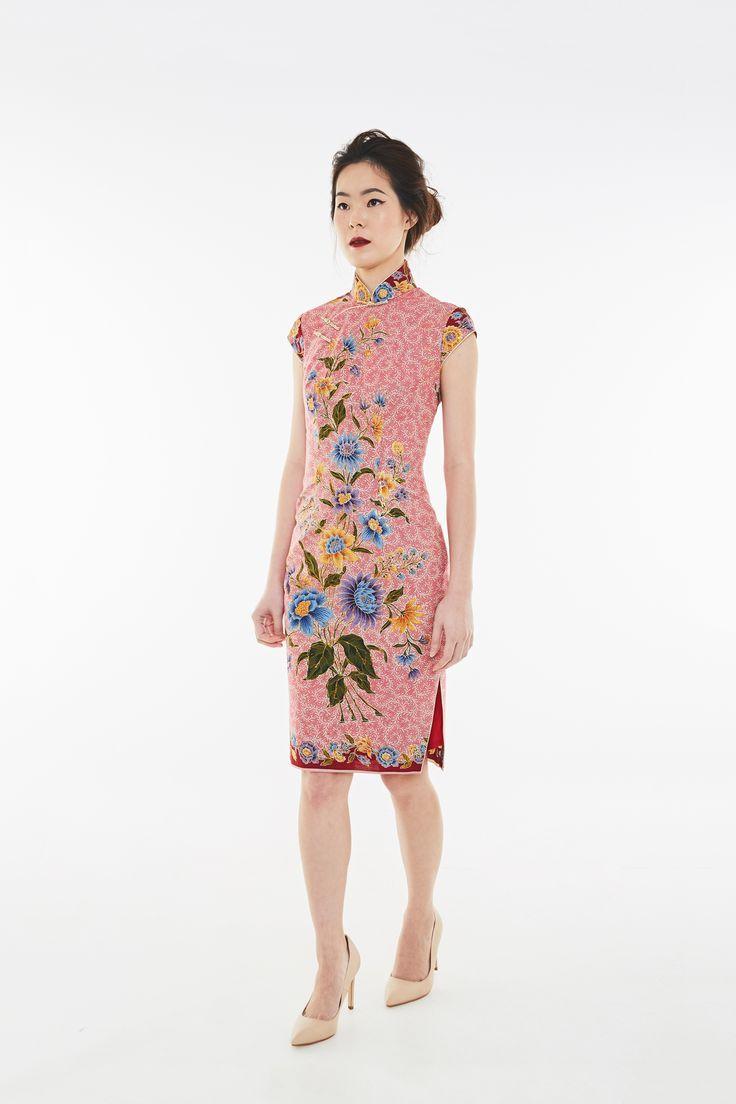 1 piece long dress batik