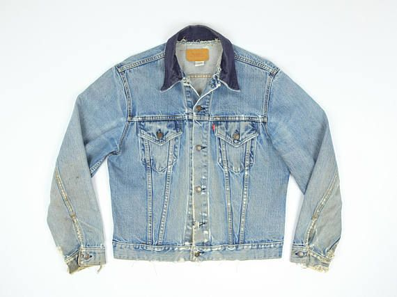 Hey, I found this really awesome Etsy listing at https://www.etsy.com/listing/523490221/distressed-levis-jean-jacket-m-80s-levis