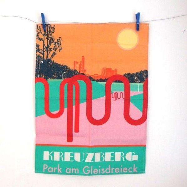 Kreuzberg Love: Knallbuntes Geschirrtuch im 70ies Stil von s.wert  http://www.s-wert-design.de/product/geschirrtuch-schoeneberg/