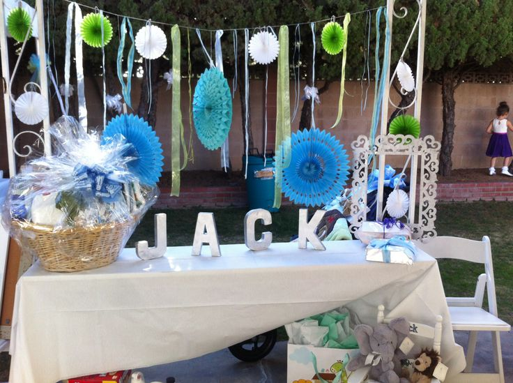 Jack's baby shower gift table