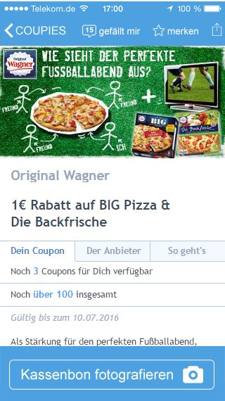 COUPIES-Coupon Wagner Pizza