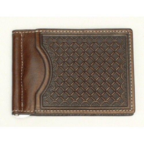 Mens Western Wallets Nocona Chocolate Bi-Fold Money Clip
