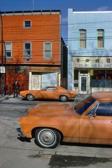 Fred Herzog Orange Cars Powell 1973